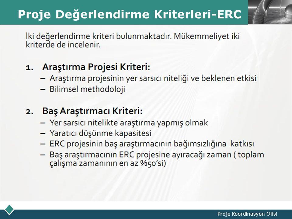 LOGO Proje Değerlendirme Kriterleri-ERC Proje Koordinasyon Ofisi