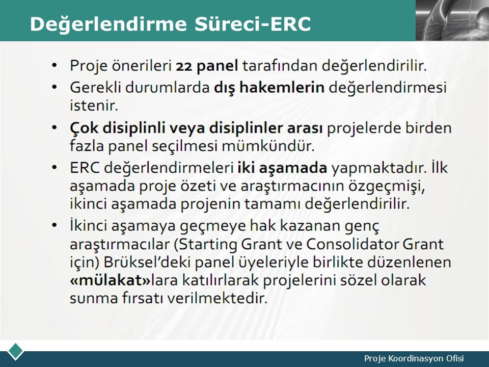 LOGO Değerlendirme Süreci-ERC Proje Koordinasyon Ofisi