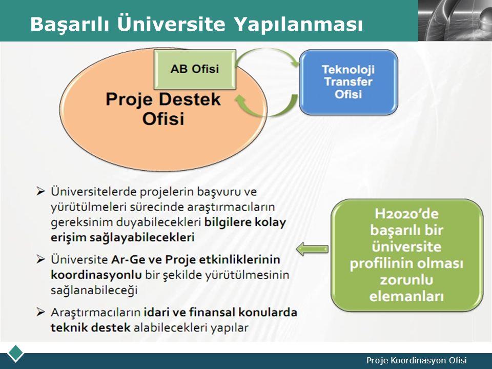 LOGO Başarılı Üniversite Yapılanması Proje Koordinasyon Ofisi