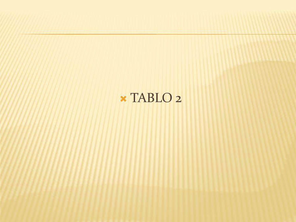  TABLO 2