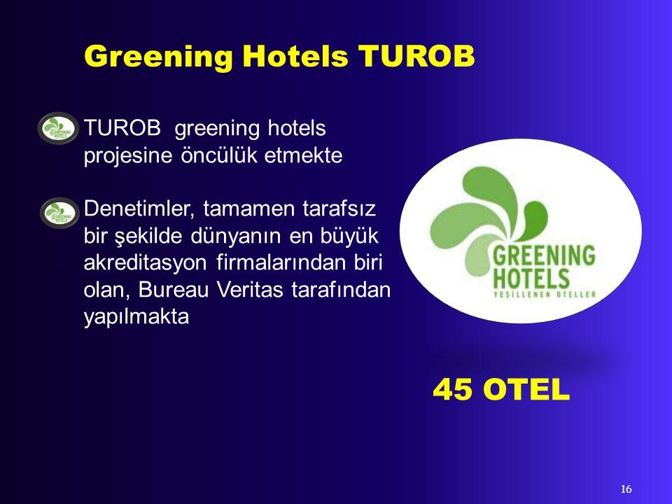 1994 Dünya Seyahat ve Turizm Konseyi GG21 kurdu GG21 ISO standardları ve Agenda 21 prensiplerini temel alır 4 OTEL Green Globe 21 - WTTC 17