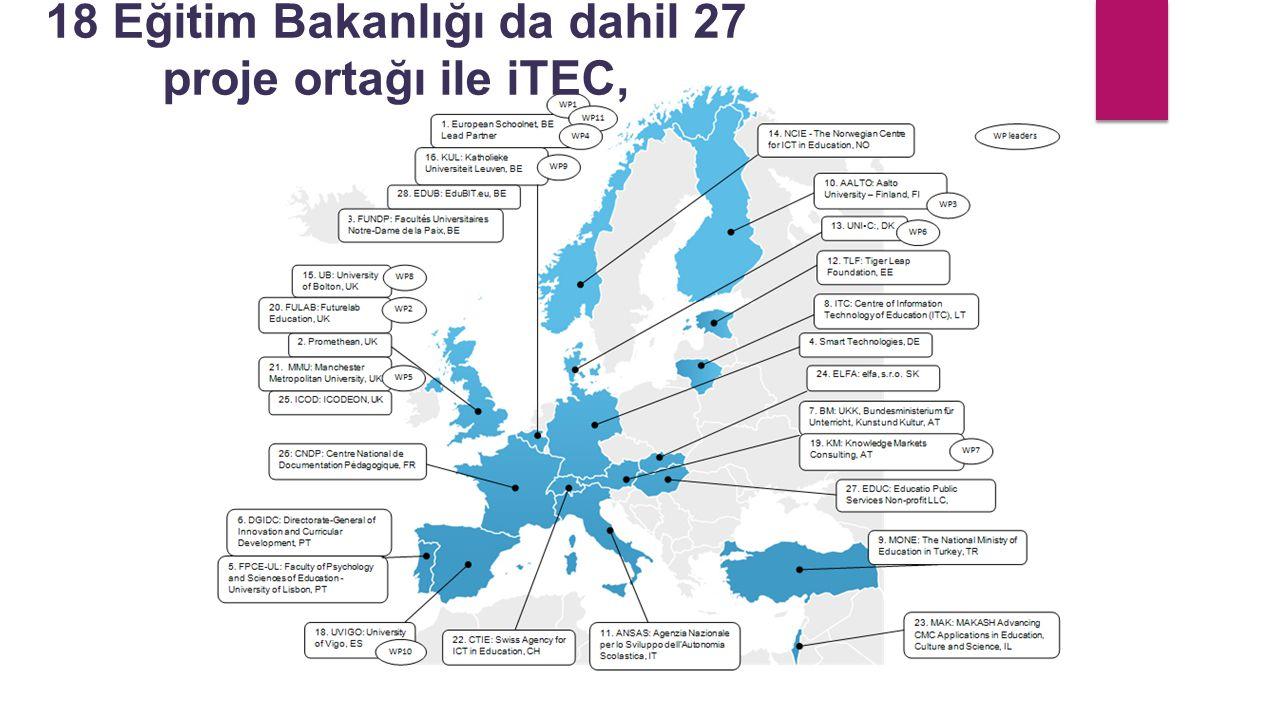 18 Eğitim Bakanlığı da dahil 27 proje ortağı ile iTEC,