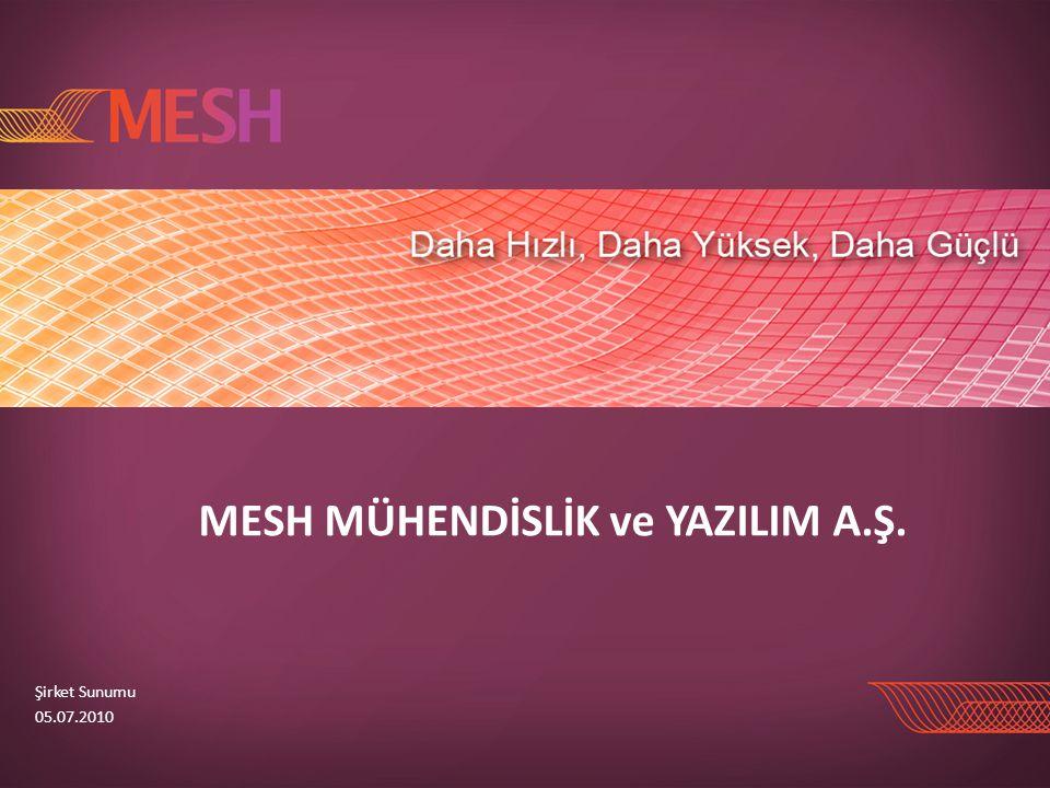 MESH MÜHENDİSLİK ve YAZILIM A.Ş. Şirket Sunumu 05.07.2010