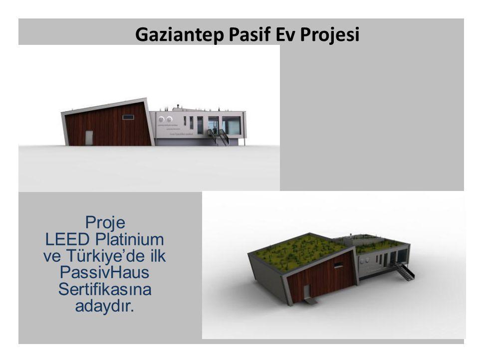 Gaziantep Pasif Ev Projesi Proje LEED Platinium ve Türkiye'de ilk PassivHaus Sertifikasına adaydır.