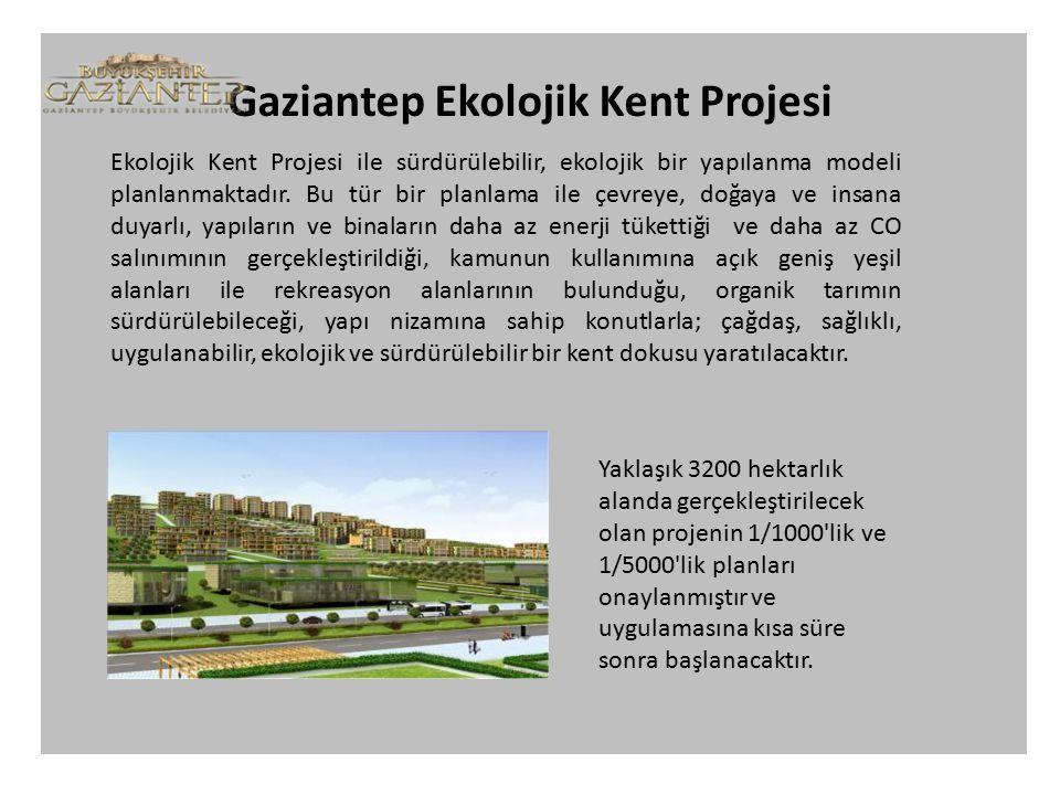 Ekolojik Kent Projesi ile sürdürülebilir, ekolojik bir yapılanma modeli planlanmaktadır.