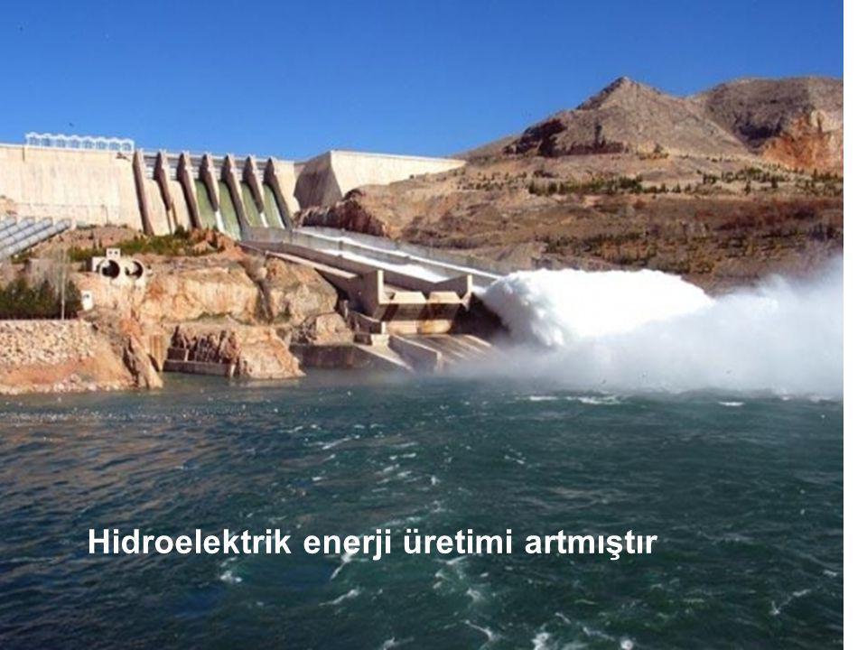 Hidroelektrik enerji üretimi artmıştır