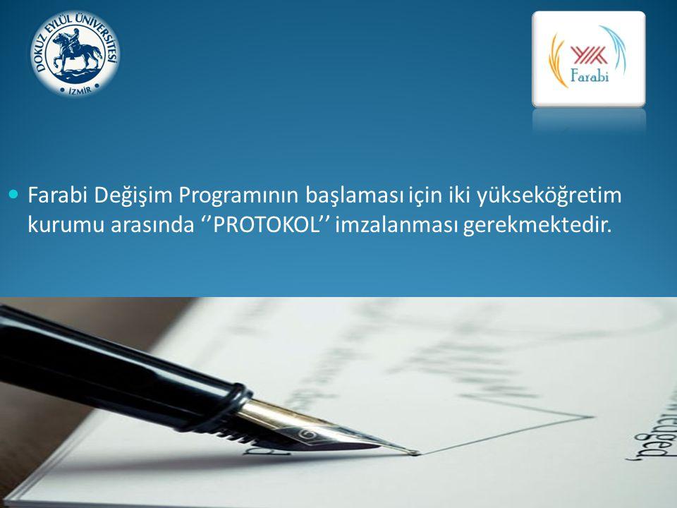 Protokol; iki yükseköğretim kurumu arasındaki değişimi ve anlaşmalı fakülteleri gösteren belgedir.