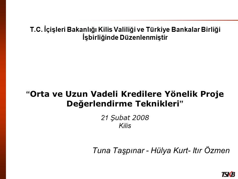 """T.C. İçişleri Bakanlığı Kilis Valiliği ve Türkiye Bankalar Birliği İşbirliğinde Düzenlenmiştir """" Orta ve Uzun Vadeli Kredilere Yönelik Proje Değerlend"""