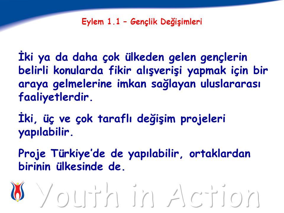 İki ya da daha çok ülkeden gelen gençlerin belirli konularda fikir alışverişi yapmak için bir araya gelmelerine imkan sağlayan uluslararası faaliyetlerdir.