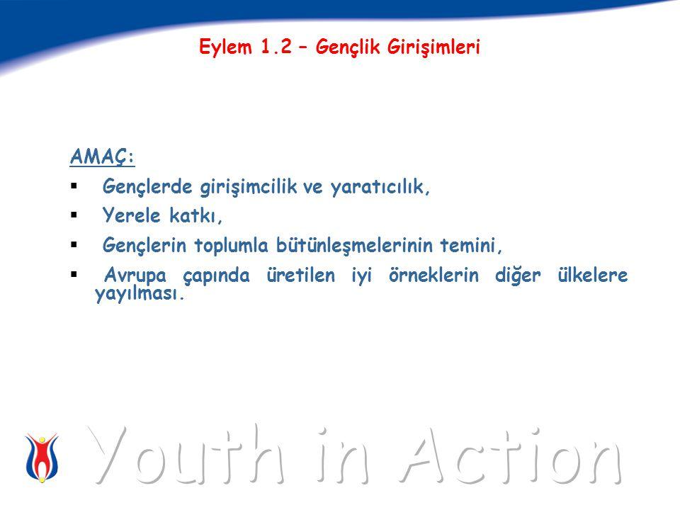 5 AMAÇ:  Gençlerde girişimcilik ve yaratıcılık,  Yerele katkı,  Gençlerin toplumla bütünleşmelerinin temini,  Avrupa çapında üretilen iyi örneklerin diğer ülkelere yayılması.