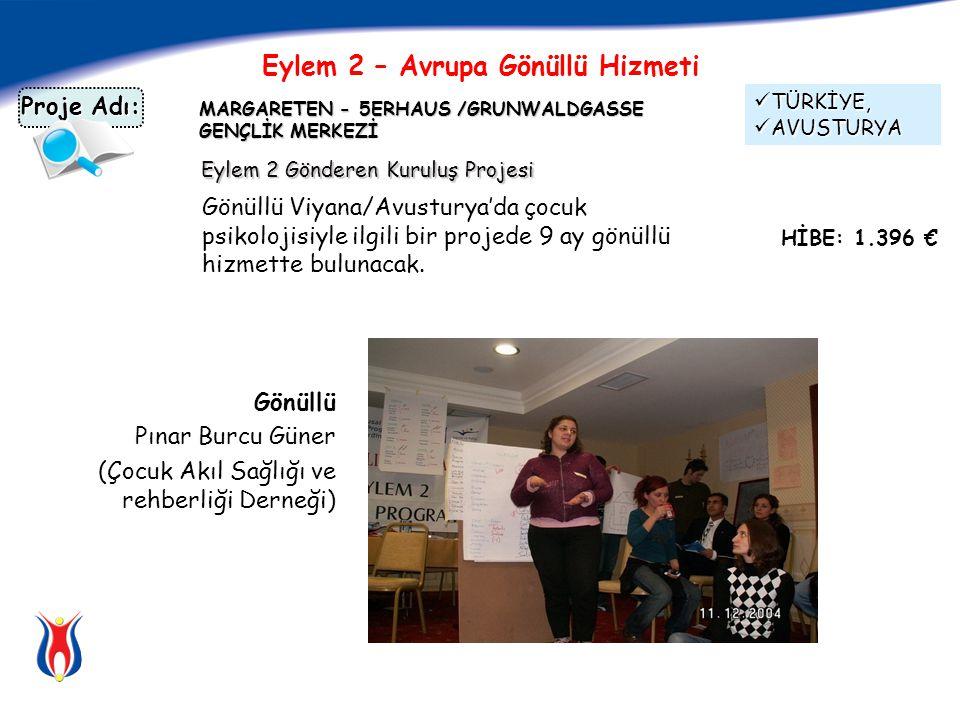 MARGARETEN - 5ERHAUS /GRUNWALDGASSE GENÇLİK MERKEZİ Gönüllü Viyana/Avusturya'da çocuk psikolojisiyle ilgili bir projede 9 ay gönüllü hizmette bulunacak.