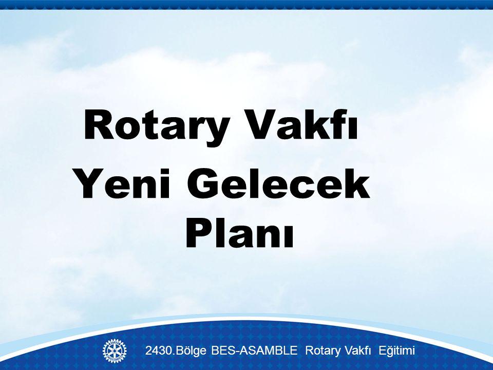 Rotary Vakfı Yeni Gelecek Planı 2430.Bölge BES-ASAMBLE Rotary Vakfı Eğitimi