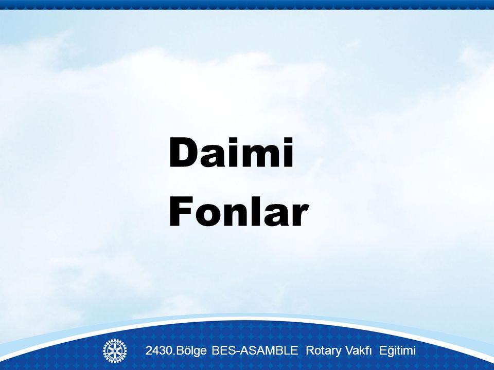 Daimi Fonlar 2430.Bölge BES-ASAMBLE Rotary Vakfı Eğitimi