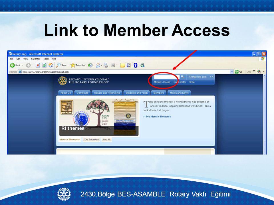 Link to Member Access 2430.Bölge BES-ASAMBLE Rotary Vakfı Eğitimi