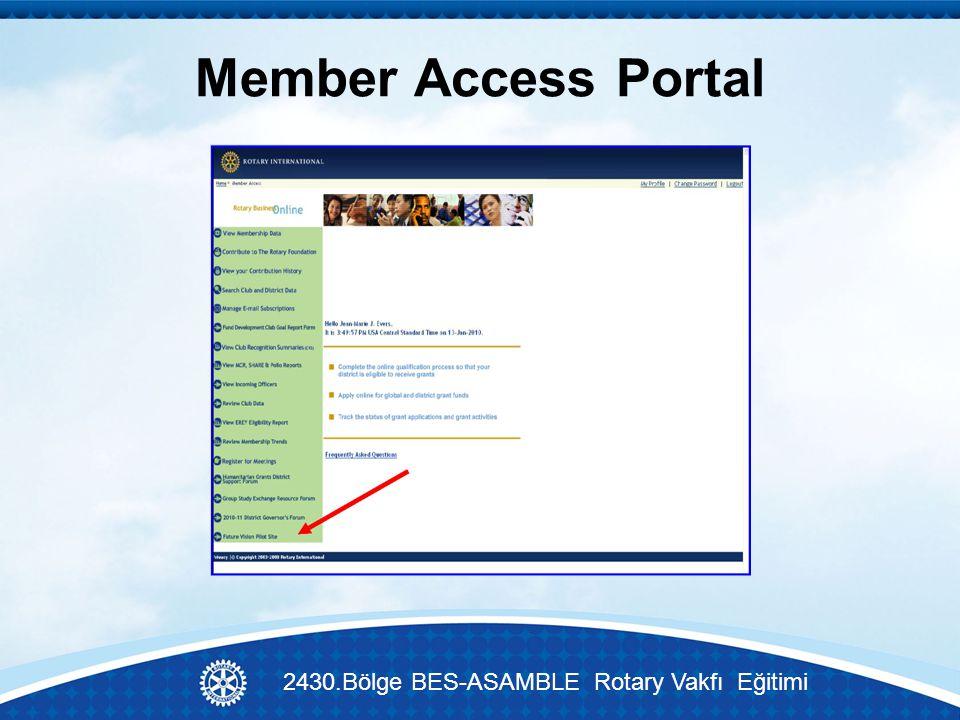 Member Access Portal 2430.Bölge BES-ASAMBLE Rotary Vakfı Eğitimi