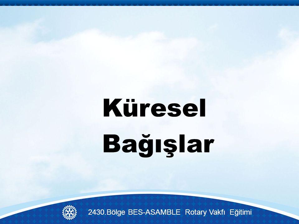 Küresel Bağışlar 2430.Bölge BES-ASAMBLE Rotary Vakfı Eğitimi