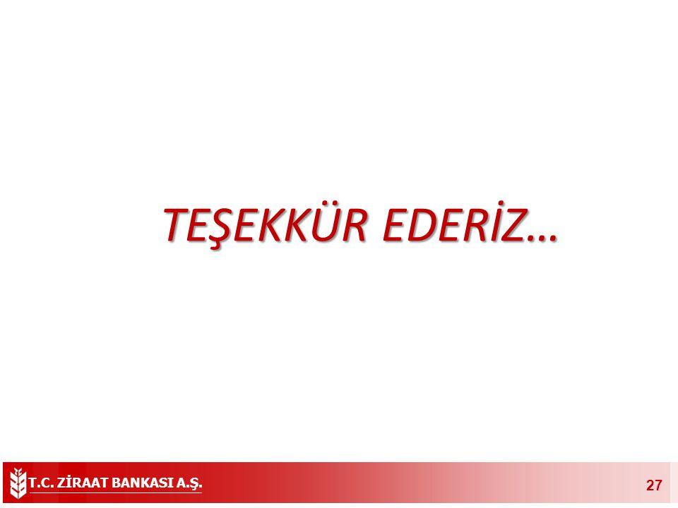 T.C. ZİRAAT BANKASI A.Ş. 27 TEŞEKKÜR EDERİZ…