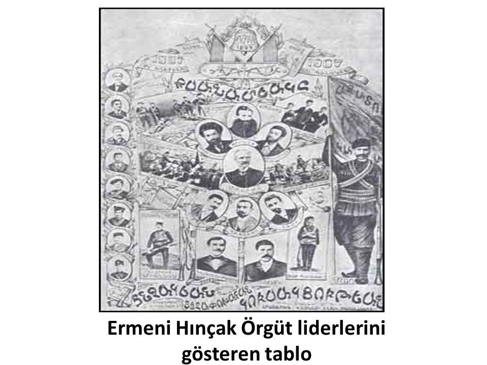 Ermeni Hınçak Örgüt liderlerini gösteren tablo