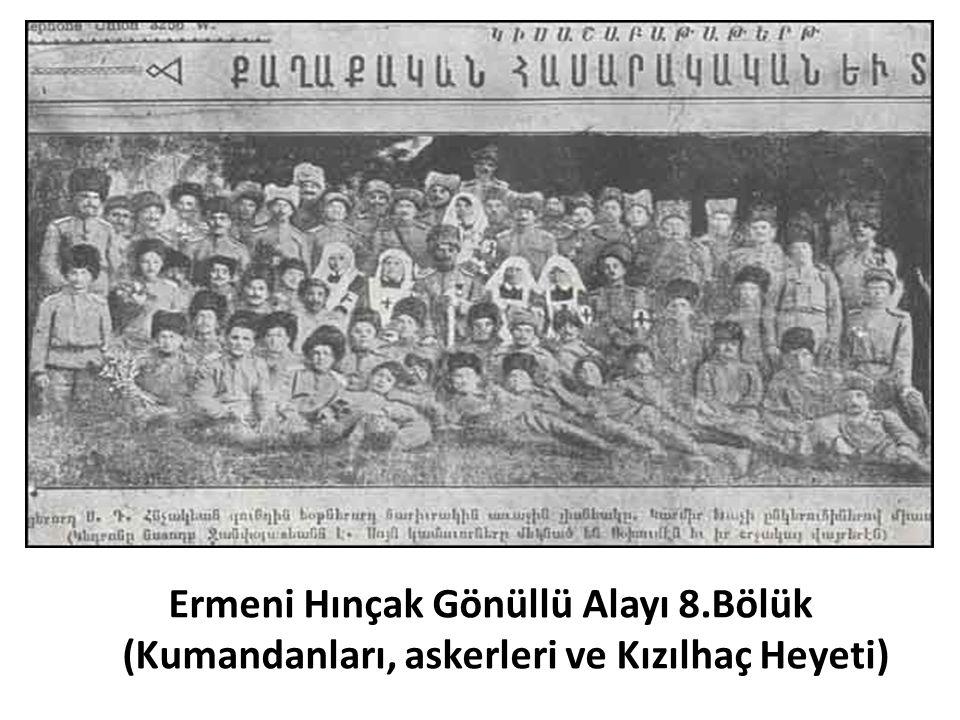 Ermeni Hınçak Gönüllü Alayı 8.Bölük (Kumandanları, askerleri ve Kızılhaç Heyeti)