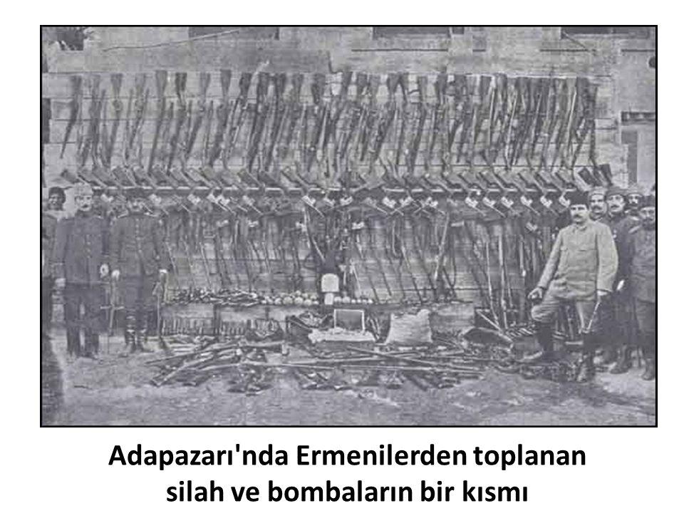 Adapazarı'nda Ermenilerden toplanan silah ve bombaların bir kısmı