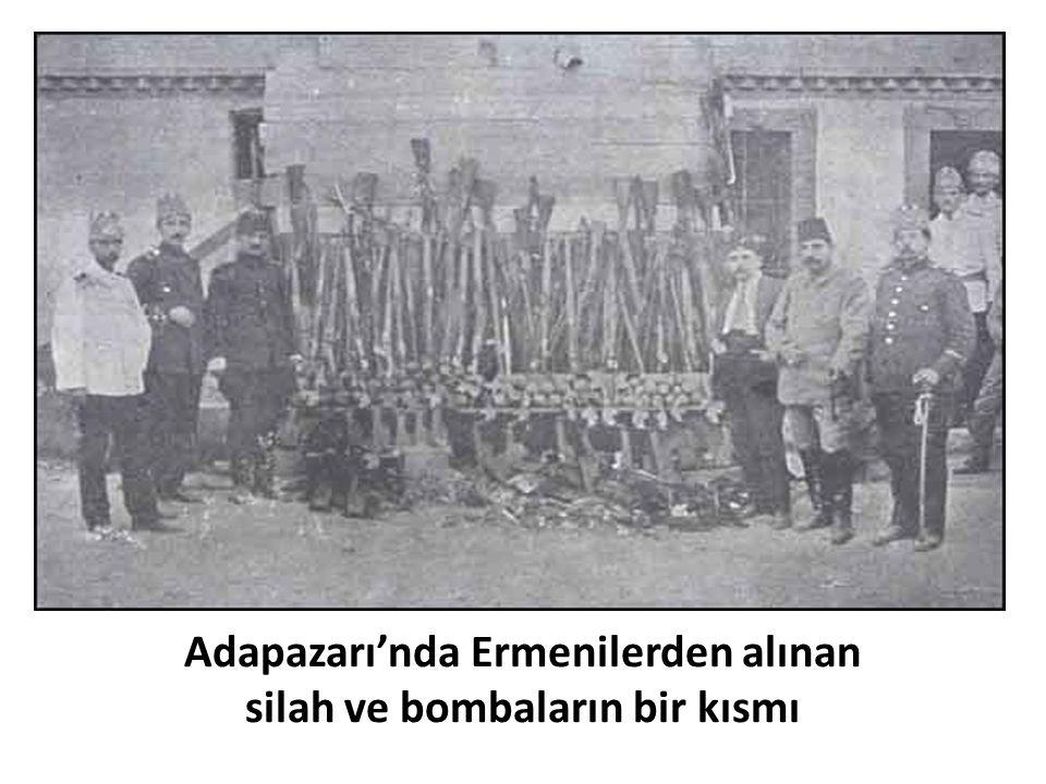 Adapazarı'nda Ermenilerden alınan silah ve bombaların bir kısmı