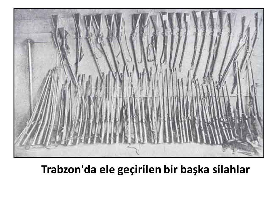 Trabzon'da ele geçirilen bir başka silahlar