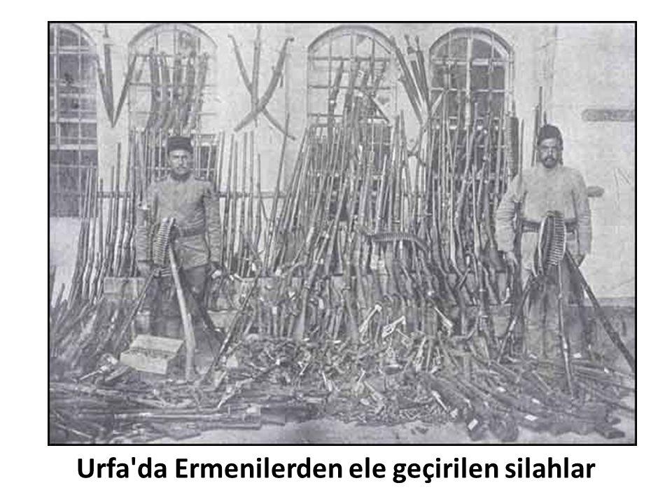 Urfa'da Ermenilerden ele geçirilen silahlar