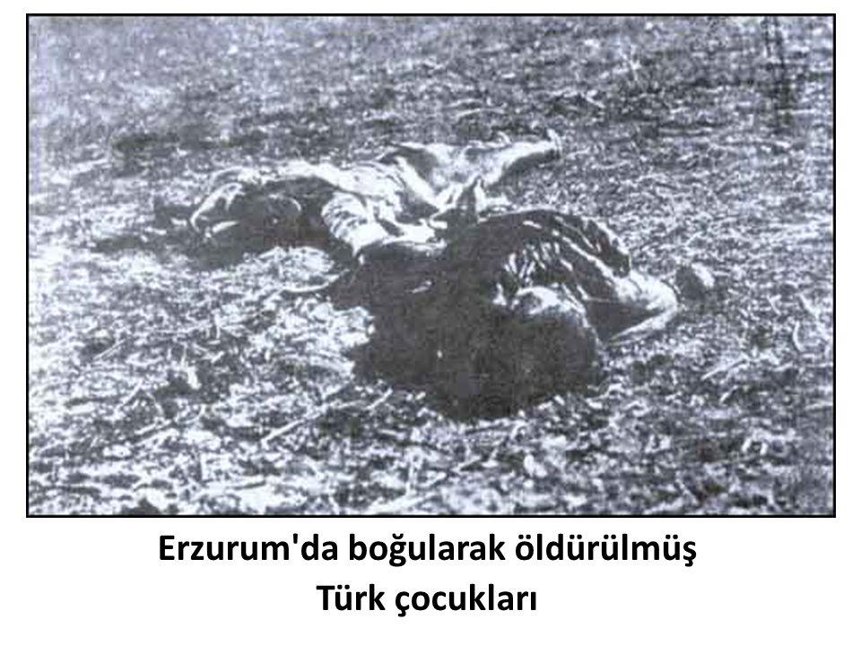 Erzurum'da boğularak öldürülmüş Türk çocukları