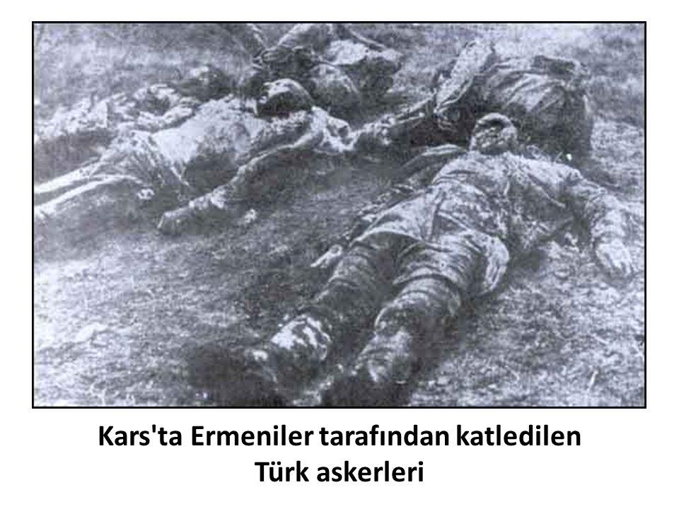 Kars'ta Ermeniler tarafından katledilen Türk askerleri