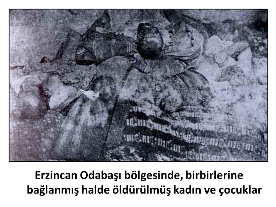 Erzincan Odabaşı bölgesinde, birbirlerine bağlanmış halde öldürülmüş kadın ve çocuklar