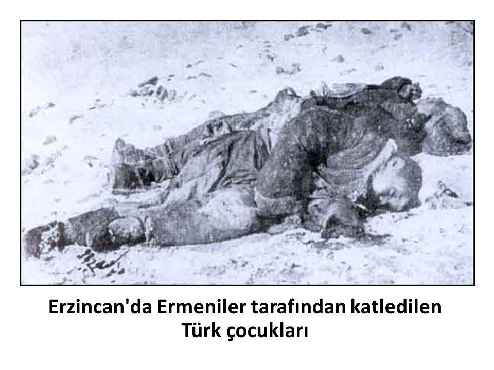 Erzincan'da Ermeniler tarafından katledilen Türk çocukları