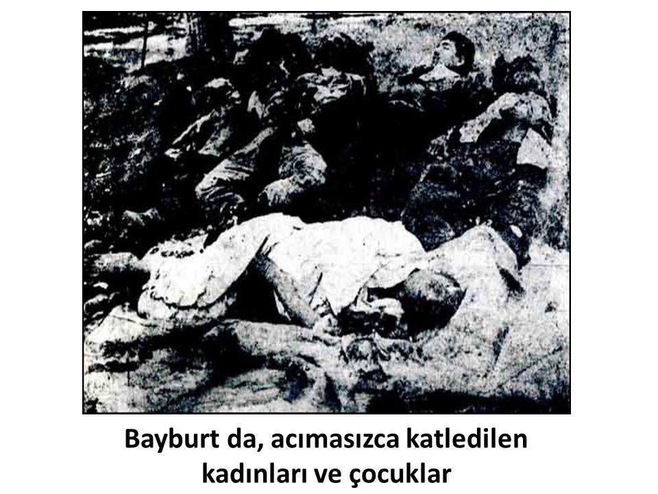 Bayburt da, acımasızca katledilen kadınları ve çocuklar