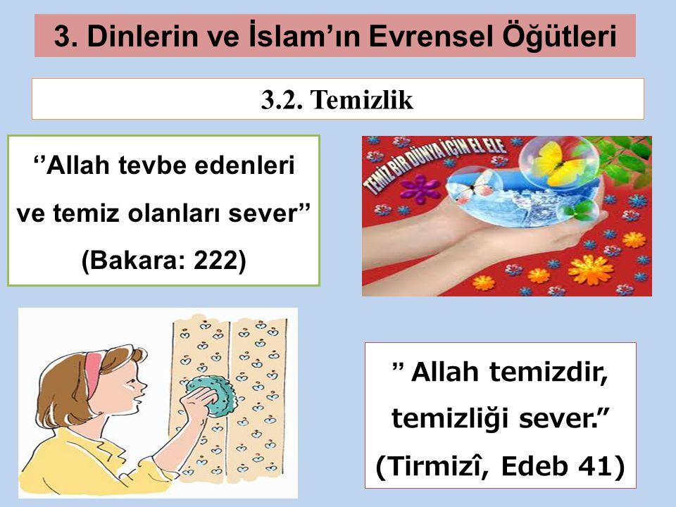 3.Dinlerin ve İslam'ın Evrensel Öğütleri 3.2.
