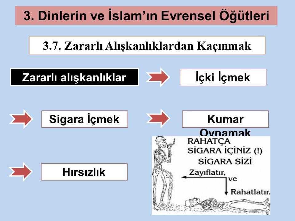 3.Dinlerin ve İslam'ın Evrensel Öğütleri 3.7.