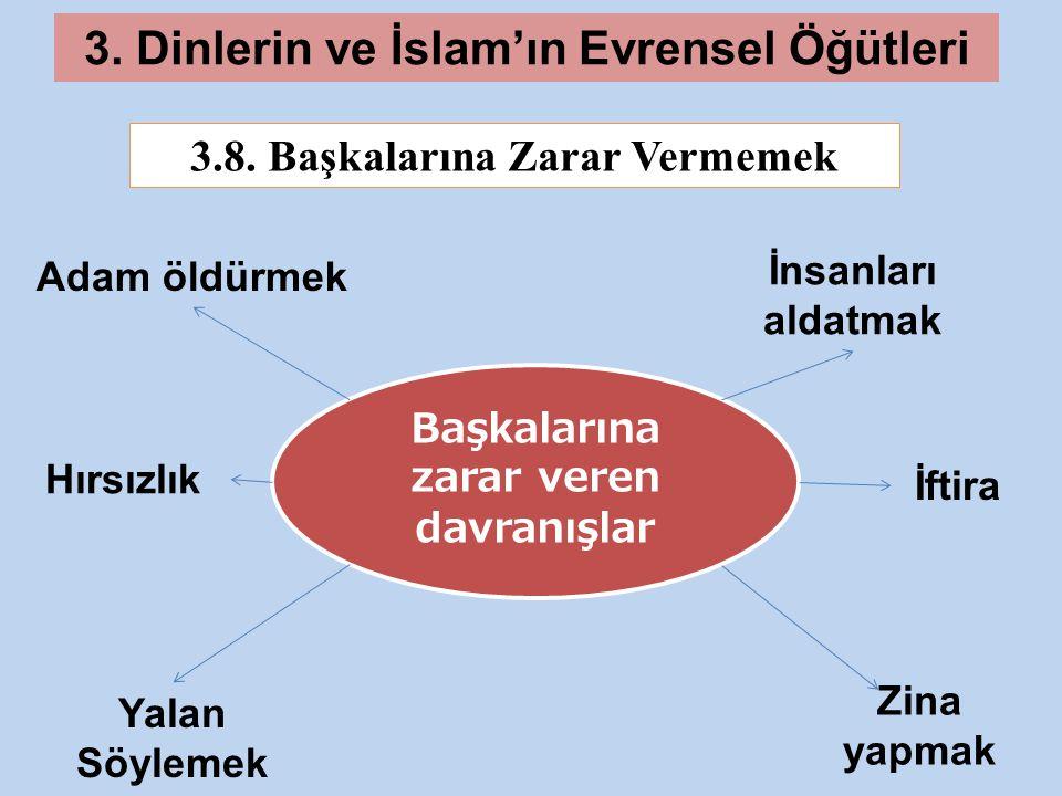 3.Dinlerin ve İslam'ın Evrensel Öğütleri 3.8.