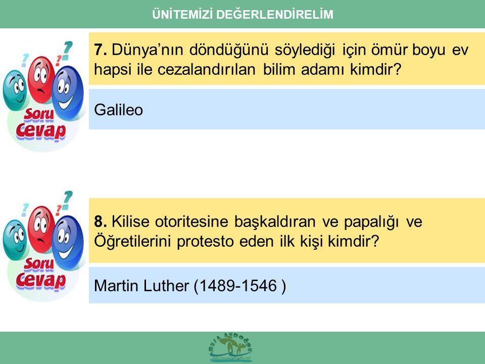 ÜNİTEMİZİ DEĞERLENDİRELİM 7.