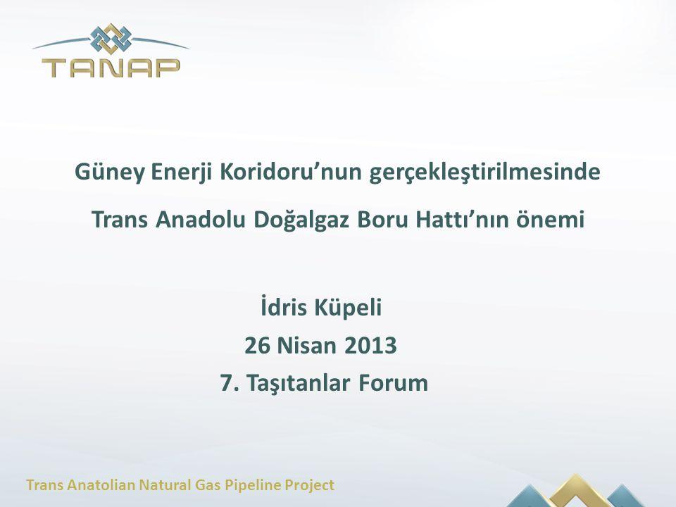 Trans Anatolian Natural Gas Pipeline Project Güney Enerji Koridoru'nun gerçekleştirilmesinde Trans Anadolu Doğalgaz Boru Hattı'nın önemi İdris Küpeli
