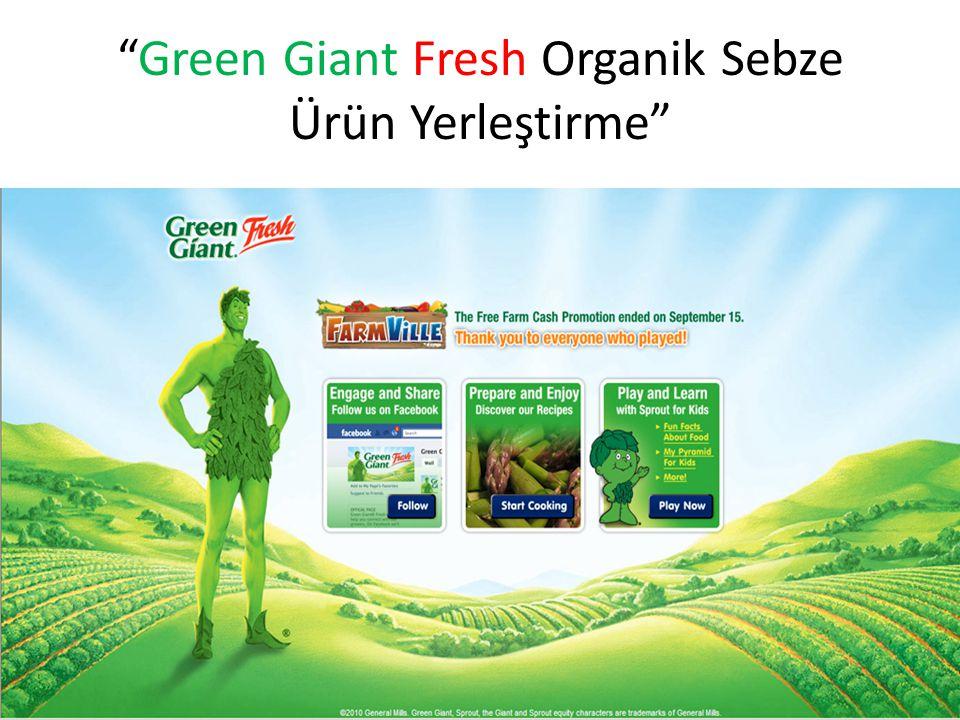 """""""Green Giant Fresh Organik Sebze Ürün Yerleştirme"""""""