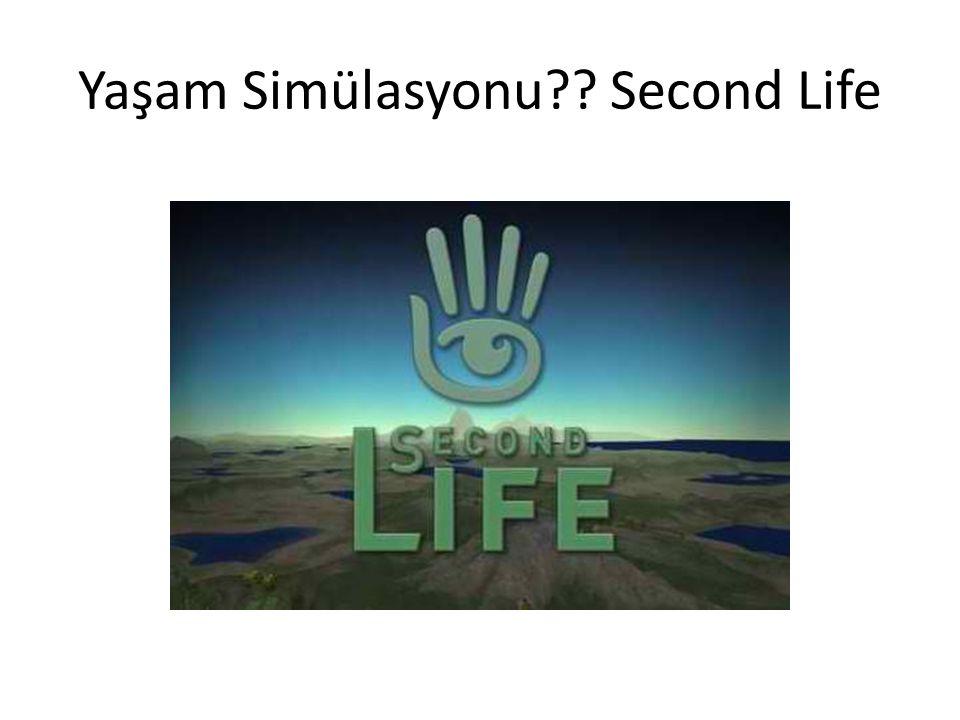 Yaşam Simülasyonu?? Second Life