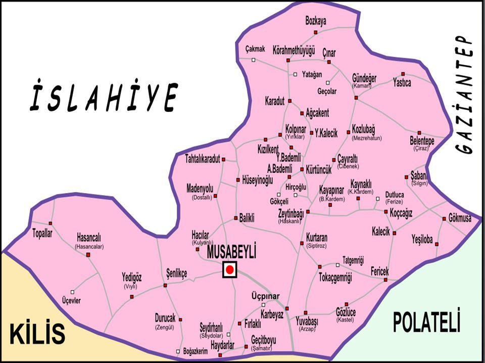 Kuzeybatısında İslahiye ilçesi, kuzeydoğusunda Gaziantep, güneyinde Kilis, doğusunda Polateli ilçesi ile komsudur.