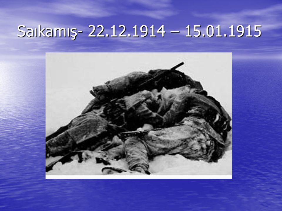 Saıkamış- 22.12.1914 – 15.01.1915