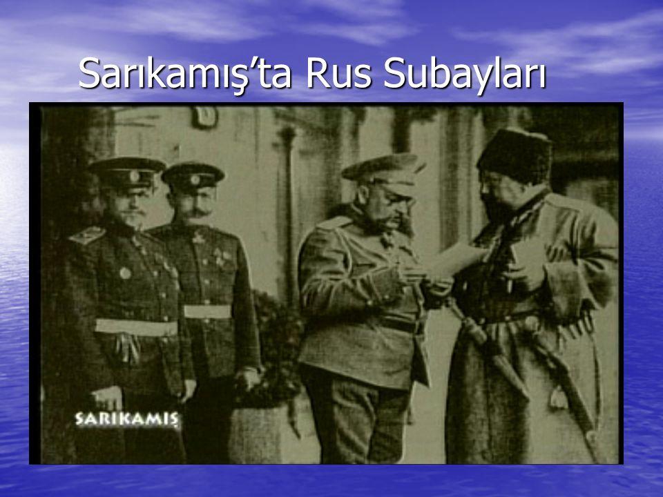 Sarıkamış'ta Rus Subayları Sarıkamış'ta Rus Subayları