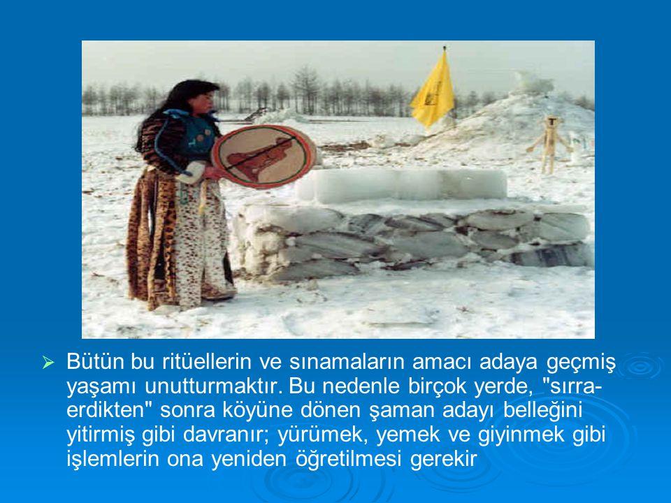   Bütün bu ritüellerin ve sınamaların amacı adaya geçmiş yaşamı unutturmaktır.