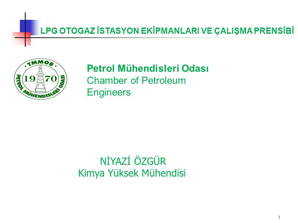 1 LPG OTOGAZ İSTASYON EKİPMANLARI VE ÇALIŞMA PRENSİBİ NİYAZİ ÖZGÜR Kimya Yüksek Mühendisi Petrol Mühendisleri Odası Chamber of Petroleum Engineers