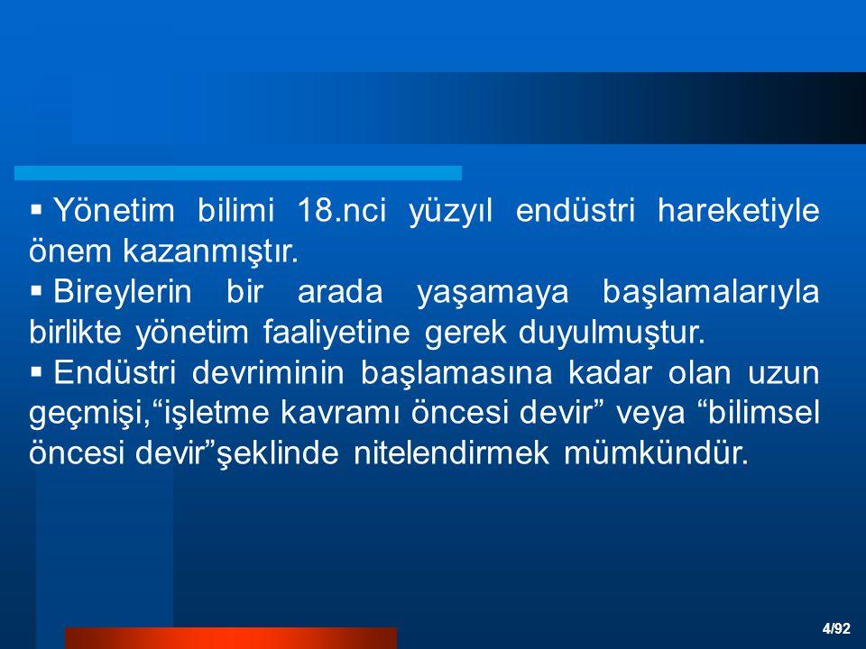 5/92 BİRİNCİ DÖNEM BİLİMSEL ÖNCESİ DÖNEM (1880'DEN ÖNCE)