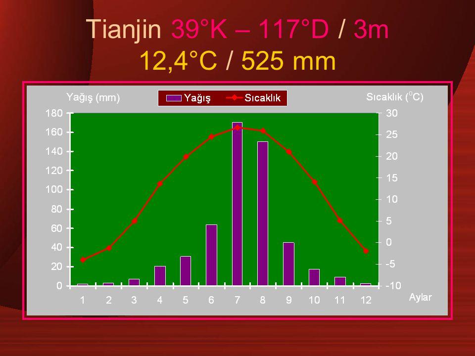 Tianjin 39°K – 117°D / 3m 12,4°C / 525 mm