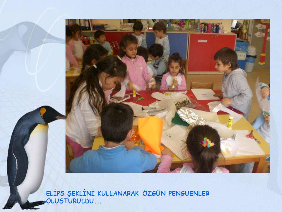 ELİPS ŞEKLİNİ KULLANARAK ÖZGÜN PENGUENLER OLUŞTURULDU...