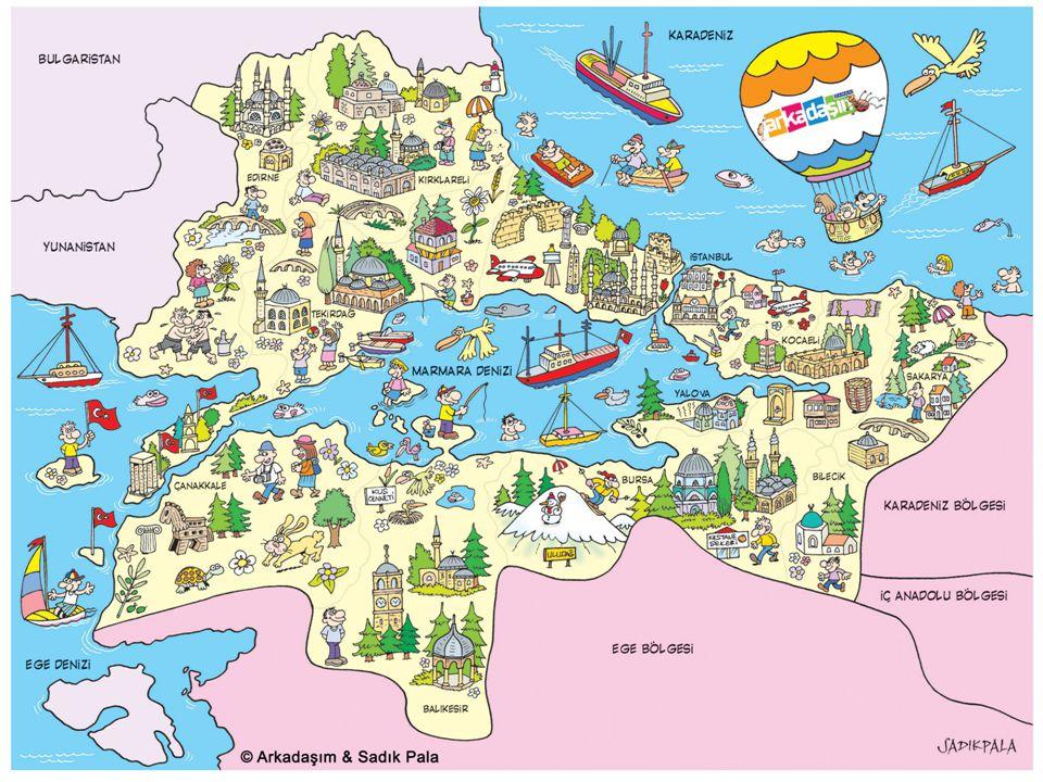 İLLER İl merkezleri baz alındığında Marmara Bölgesinde yer alan iller şunlardır.
