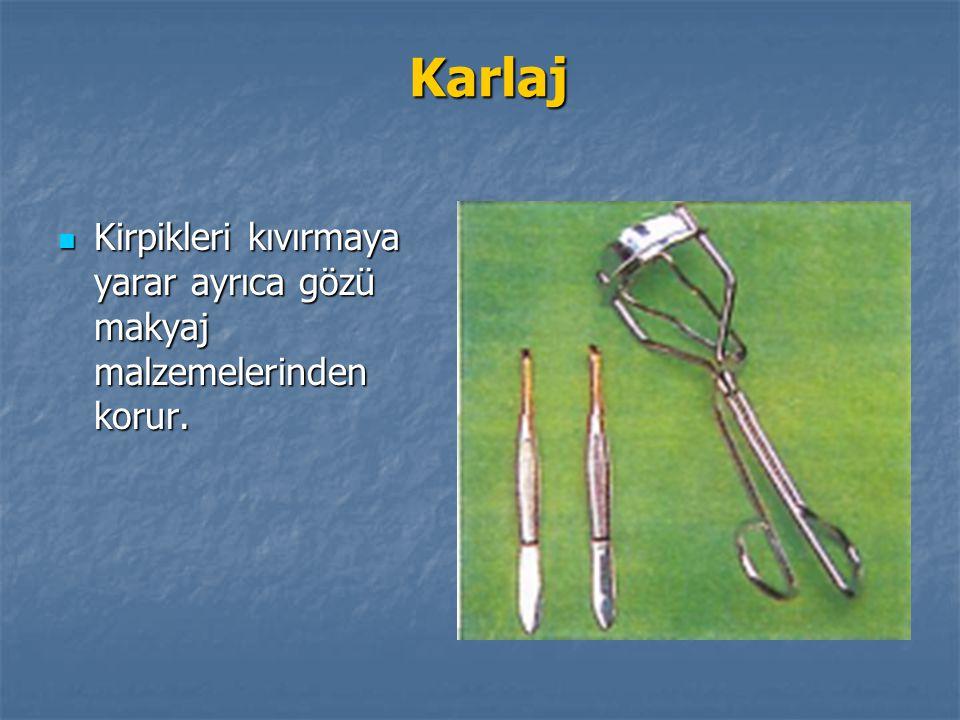 Karlaj Karlaj Kirpikleri kıvırmaya yarar ayrıca gözü makyaj malzemelerinden korur. Kirpikleri kıvırmaya yarar ayrıca gözü makyaj malzemelerinden korur
