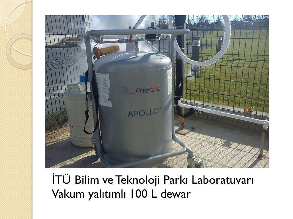 İ TÜ Bilim ve Teknoloji Parkı Laboratuvarı Vakum yalıtımlı 100 L dewar
